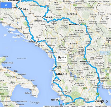 Auto Karta Albanije Karta