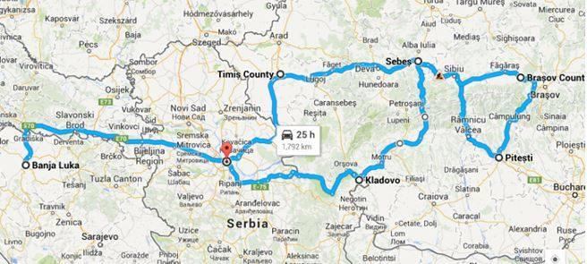 karta rumunije i srbije Rumunija i njene staze   Kapetanova putovanja karta rumunije i srbije